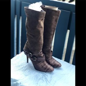 Marciano Women's Leather Boots Brown Sz 7.5 US